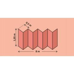 Подложка-гармошка перфорированная 1050*500*1,8/Розовая (8,4 м2 в рулоне)